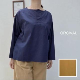 オーシバル(ORCIVAL)のORCIVAL*プルオーバーブラウス[1] ダークブルー(シャツ/ブラウス(長袖/七分))