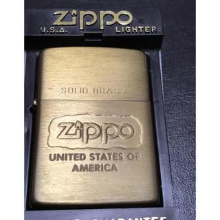 ジッポー(ZIPPO)のZippo 1994年製 ゴールド ソリッドプラス パタゴニアさん専用(タバコグッズ)