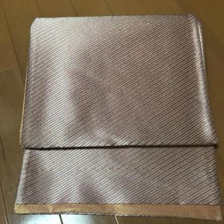 ニシジン(西陣)の無地感覚で使いやすい!西陣織斜め縞模様袋帯(帯)
