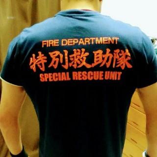 ホンダ(ホンダ)の3880円➡1980円【新品・未使用】消防士 Tシャツ Mサイズ(装備/装具)