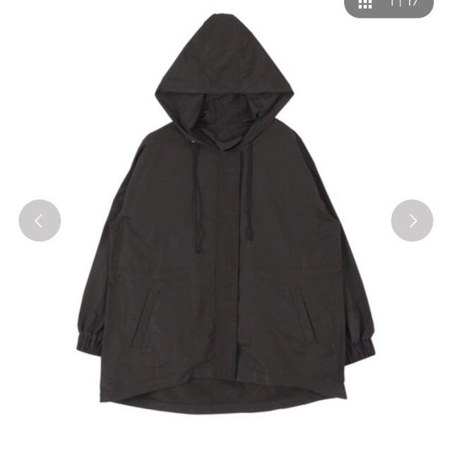 titivate(ティティベイト)のイレギュラーヘムモッズコート  黒 レディースのジャケット/アウター(モッズコート)の商品写真