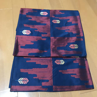 ニシジン(西陣)の松坂屋 リーフ模様袋帯 西陣織(帯)