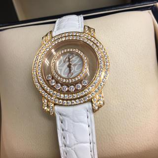 ショパール(Chopard)の数回/希少¥405万品★ショパール★K18PG 最高級ハッピーダイヤ 箱/保証書(腕時計)