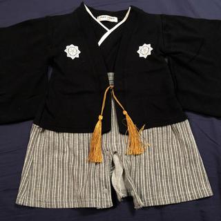 初節句 用  ベビー 袴風 ロンパース(和服/着物)
