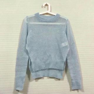 チープマンデー(CHEAP MONDAY)のチープマンデー セーター 青 水色(ニット/セーター)