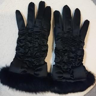 アンテプリマ(ANTEPRIMA)のあい様専用 ANTEPRIMA アンテプリマ ファー付き手袋 ブラック黒(手袋)