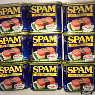SPAM  / スパム 【減塩】9缶  (缶詰/瓶詰)