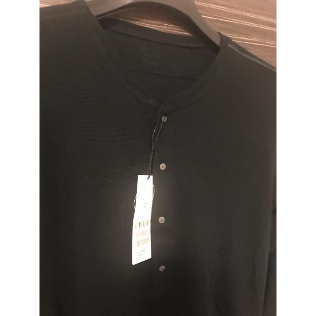 TETE HOMME(テットオム)の★新品★テットオム 7分丈カットソー 黒 メンズのトップス(Tシャツ/カットソー(七分/長袖))の商品写真