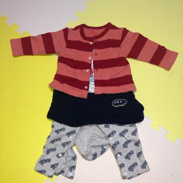 BREEZE(ブリーズ)の洋服風ロンパース? キッズ/ベビー/マタニティのベビー服(~85cm)(ロンパース)の商品写真
