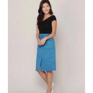 アンドクチュール(And Couture)のタグ付き新品未使用 アンドクチュール ブルー スカートS(ひざ丈スカート)