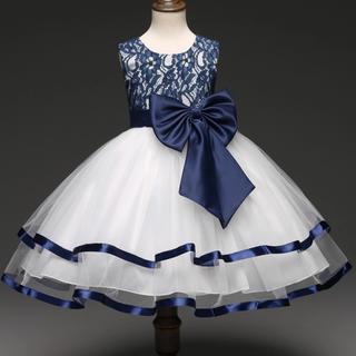 新品❤️キッズドレス❤️ネイビー 140㎝ 結婚式 発表会(ドレス/フォーマル)