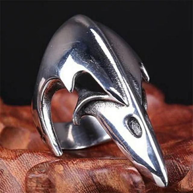 イーグルヘッドスカルリング メンズリング メンズのアクセサリー(リング(指輪))の商品写真