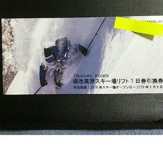 栂池高原スキー場 リフト1日券引換券 1枚(スキー場)