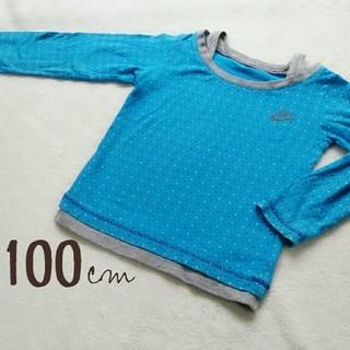 ナイキ(NIKE)の100cm【NIKE】長袖T/ブルー水玉(Tシャツ/カットソー)