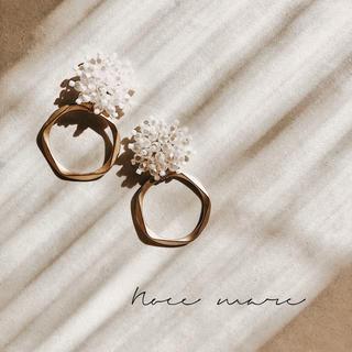 -pearl ring- 再販(ピアス)