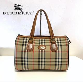バーバリー(BURBERRY)のBurberry バーバリー ボストンバッグ ハンドバッグ チェック柄 ロゴ(ボストンバッグ)