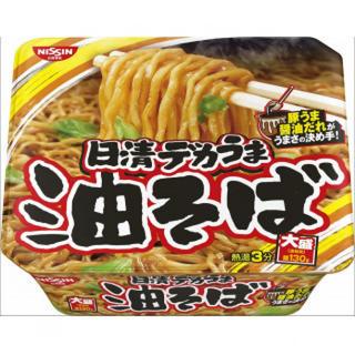 【まとめ買い】 カップ麺 日清 デカうま 油そば 157g×12個(インスタント食品)