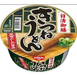 【まとめ買い】 カップ麺 日清御膳 きつねうどん 80g×12個(インスタント食品)