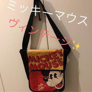 ディズニー(Disney)のディズニー ミッキーマウス ヴィンテージBAG(メッセンジャーバッグ)
