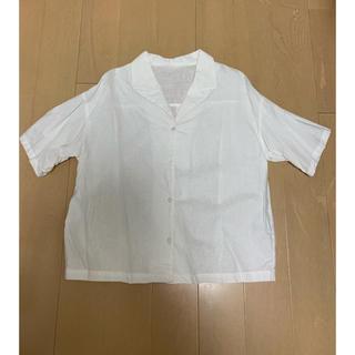 ジーユー(GU)の1度のみ着用 GU リネン 半袖シャツ おじかわ S~M(シャツ/ブラウス(半袖/袖なし))