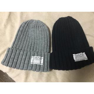 ジーユー(GU)のニット帽二個セット(ニット帽/ビーニー)