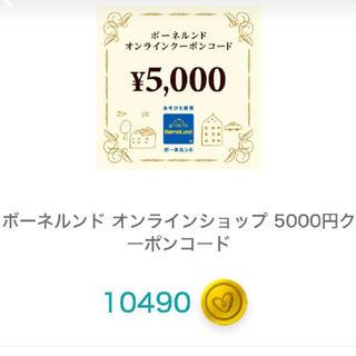 ボーネルンド(BorneLund)のボーネルンド 5000円クーポン(ショッピング)