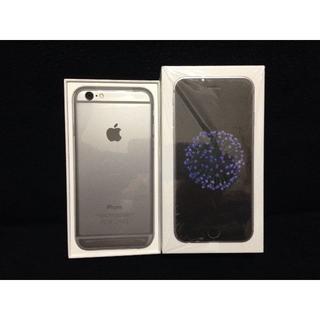 アップル(Apple)のau iPhone6 64GB グレー グレイ【新品 残債無 制限○】(スマートフォン本体)