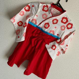 女の子袴ロンパース  95cm(和服/着物)