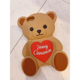 ハニーシナモン(Honey Cinnamon)の【新品】Honey Cinnamon iPhone6.7ケース くま(iPhoneケース)