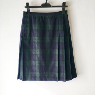 ムジルシリョウヒン(MUJI (無印良品))の無印良品 タータンチェック プリーツスカート(ひざ丈スカート)