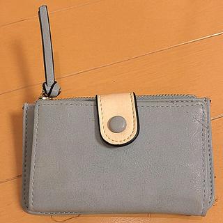 3wayキーケース付きミニ財布 ペールグレー(キーケース)