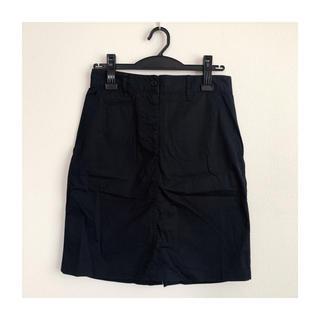 ムジルシリョウヒン(MUJI (無印良品))のMUJI Labo チノスカート(ネイビー)(ひざ丈スカート)