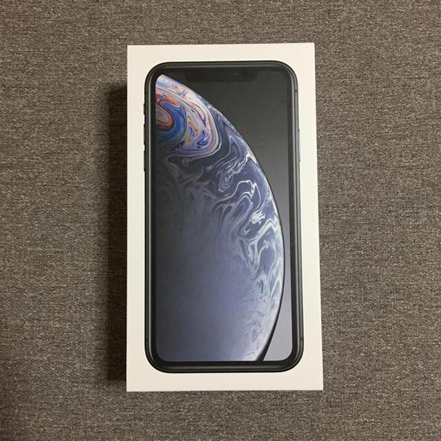 新品 iPhone XR 64GB SIMフリー ブラック 保証1年付き スマホ/家電/カメラのスマートフォン/携帯電話(スマートフォン本体)の商品写真