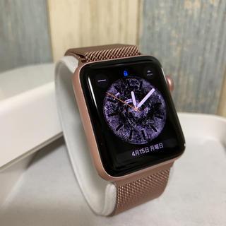 アップルウォッチ(Apple Watch)のApple Watch Series 2 42mm ローズゴールドアルミニウム(スマートフォン本体)