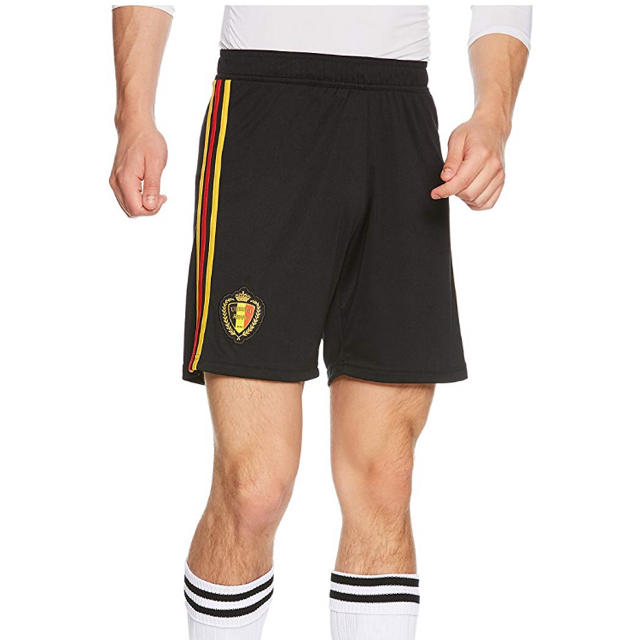 adidas(アディダス)のadidas サッカー ベルギー代表 アウェイレプリカショーツ Lサイズ スポーツ/アウトドアのサッカー/フットサル(ウェア)の商品写真