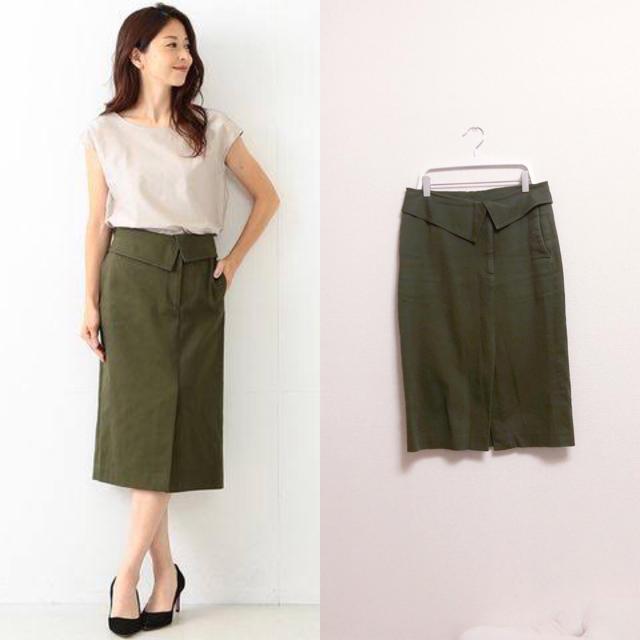 Demi-Luxe BEAMS(デミルクスビームス)のデミルクスビームス コットンカルゼタイトスカート レディースのスカート(ひざ丈スカート)の商品写真