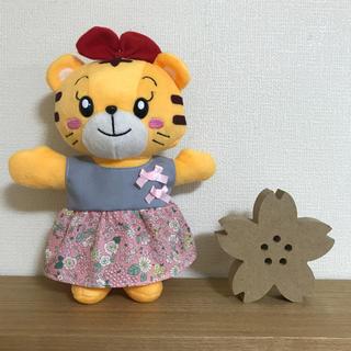 700*はなちゃん 洋服 ピンク花柄ワンピース(ぬいぐるみ)