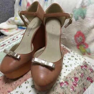 トランテアンソンドゥモード(31 Sons de mode)の値下げ!ウエッジソール♡靴(ハイヒール/パンプス)