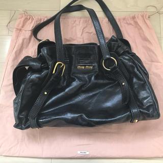 8a24179101a6 ミュウミュウ(miumiu)の(連休お値下げ)miumiu バッグ ブラック ショルダーバッグ