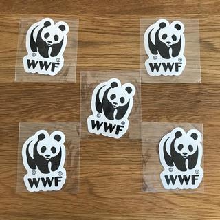 WWF パンダ 防水ステッカー 5枚組(しおり/ステッカー)