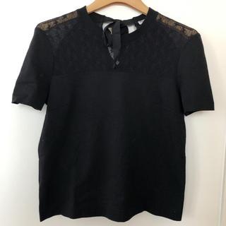 ミュウミュウ(miumiu)のミュウミュウ☆miumiu☆Tシャツ☆レース☆黒(Tシャツ(半袖/袖なし))
