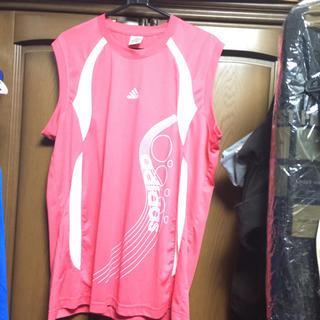 アディダス(adidas)のADIDASタンクトップパープルピンクXXL(Tシャツ(半袖/袖なし))