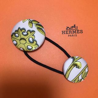 エルメス(Hermes)のエルメス カレ 包みボタンヘアゴム(ヘアアクセサリー)