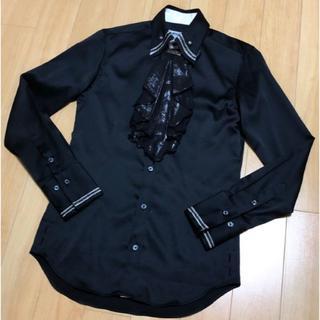 バッファローボブス(BUFFALO BOBS)のBUFFALO BOBS ☆ 美品 ブラック サテンシャツ(シャツ)