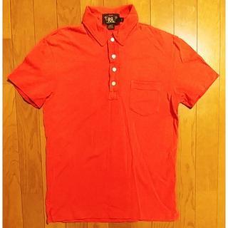 ダブルアールエル(RRL)のRRL ダブルアールエル 加工ポロシャツ 赤 S(ポロシャツ)