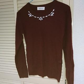 シマムラ(しまむら)のニット セーター 赤 ボルドー(ニット/セーター)