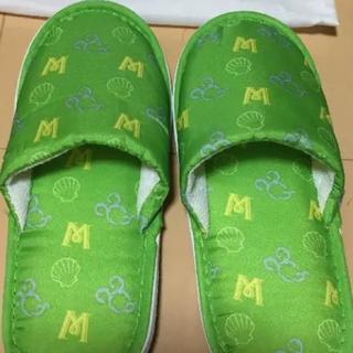 ディズニー(Disney)のディズニー ミラコスタスリッパ 子ども用 2足 可愛い 緑(スリッパ)