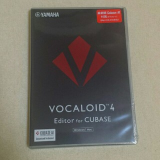 ヤマハ(ヤマハ)の未開封未使用 VOCALOID4 Editor for Cubase(DAWソフトウェア)