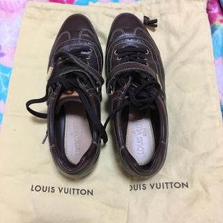 ルイヴィトン(LOUIS VUITTON)の焦げ茶色のヴィトンのスニーカー36レディース(スニーカー)