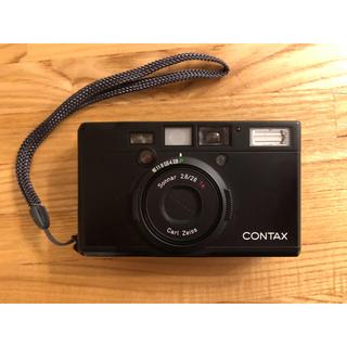 キョウセラ(京セラ)の【美品】 CONTAX コンタックス Tix ブラック(フィルムカメラ)